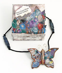 Perfect Pearls™ Mosaic Butterfly Necklace By Kris Nettleingham