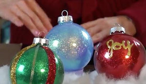 Quick and Easy Glitter Ornaments