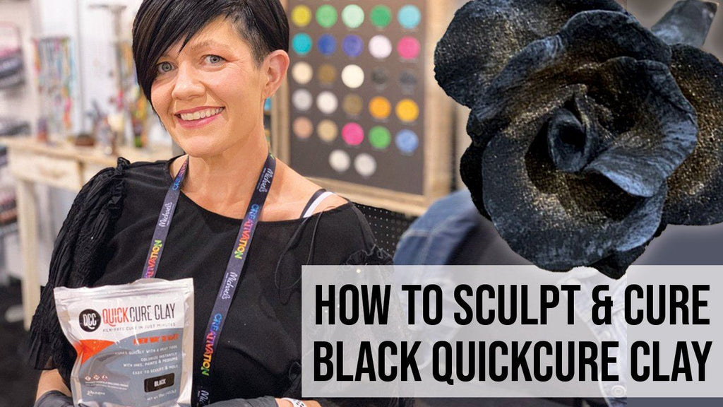 How to Sculpt & Cure Black QuickCure Clay