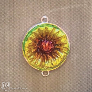 QuickCure Clay Sunflower Pendant by Sharen AK Harris