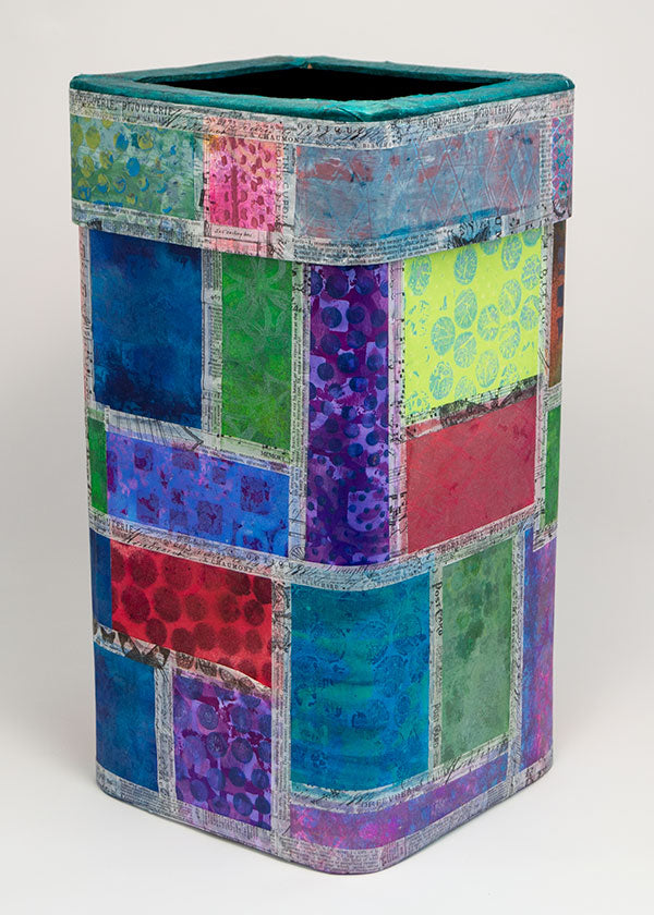 Recycled Trash Can by Kathy Paglia