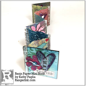 Resin Paper Mini Book by Kathy Paglia