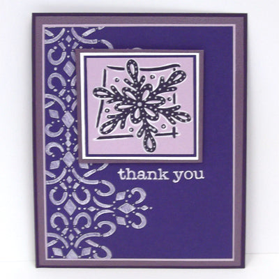 White Opaque Pen Winter Thank You Card By Roni Johnson