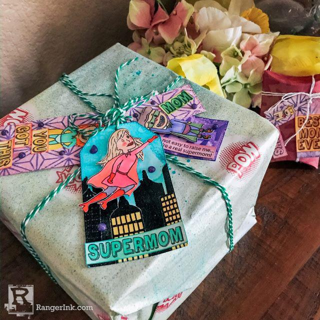 Supermom Gift Wrap by Betz Golden