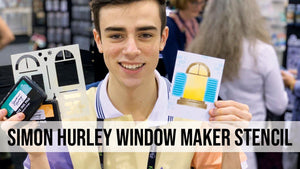 How to use Simon Hurley create. Window Maker Stencil for Card Making