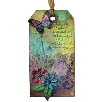 Perfect Pearls Shimmering Flight Tag By Tim Holtz