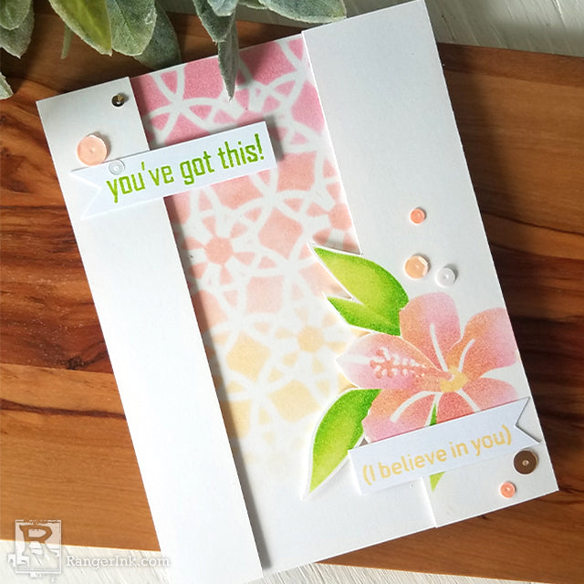 """You've Got This"" Stenciled Card by Joy Baldwin"