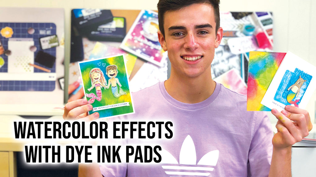 How to Create Watercolor Effects with Simon Hurley create.Dye Ink Pads