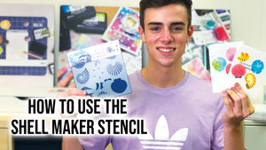 How to Use the Simon Hurley create. Shell Maker Stencil