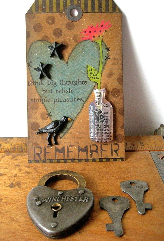 Simple Pleasures Distress Tag