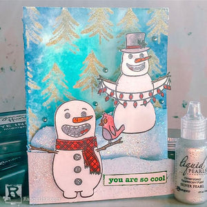 Snazzy Snowmen Card by Betz Golden
