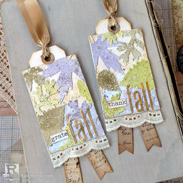 Thank-Fall Tags by Audrey Pettit