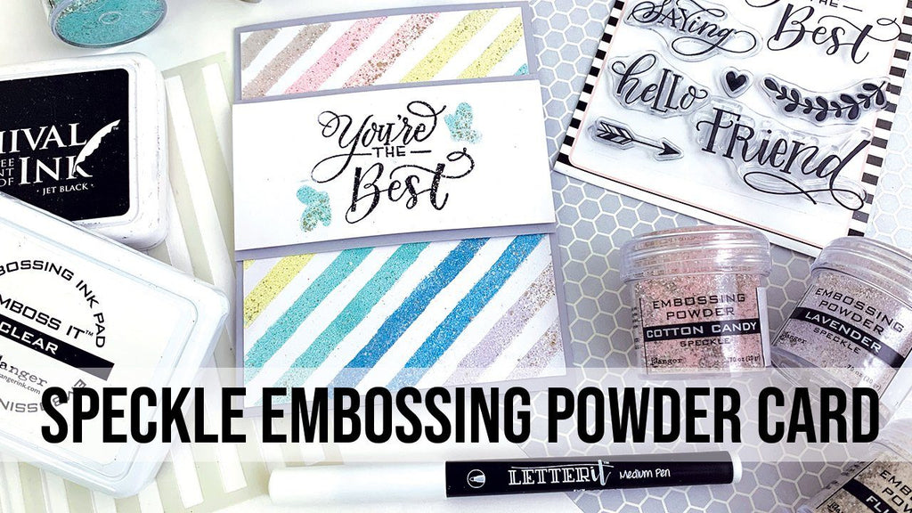 Ranger Speckle Embossing Powder Card