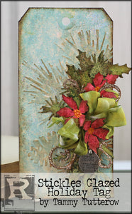 Stickles Glazed Holiday Tag by Tammy Tutterow