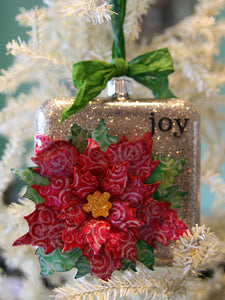 Stickles Tattered Poinsettia Christmas Ornament