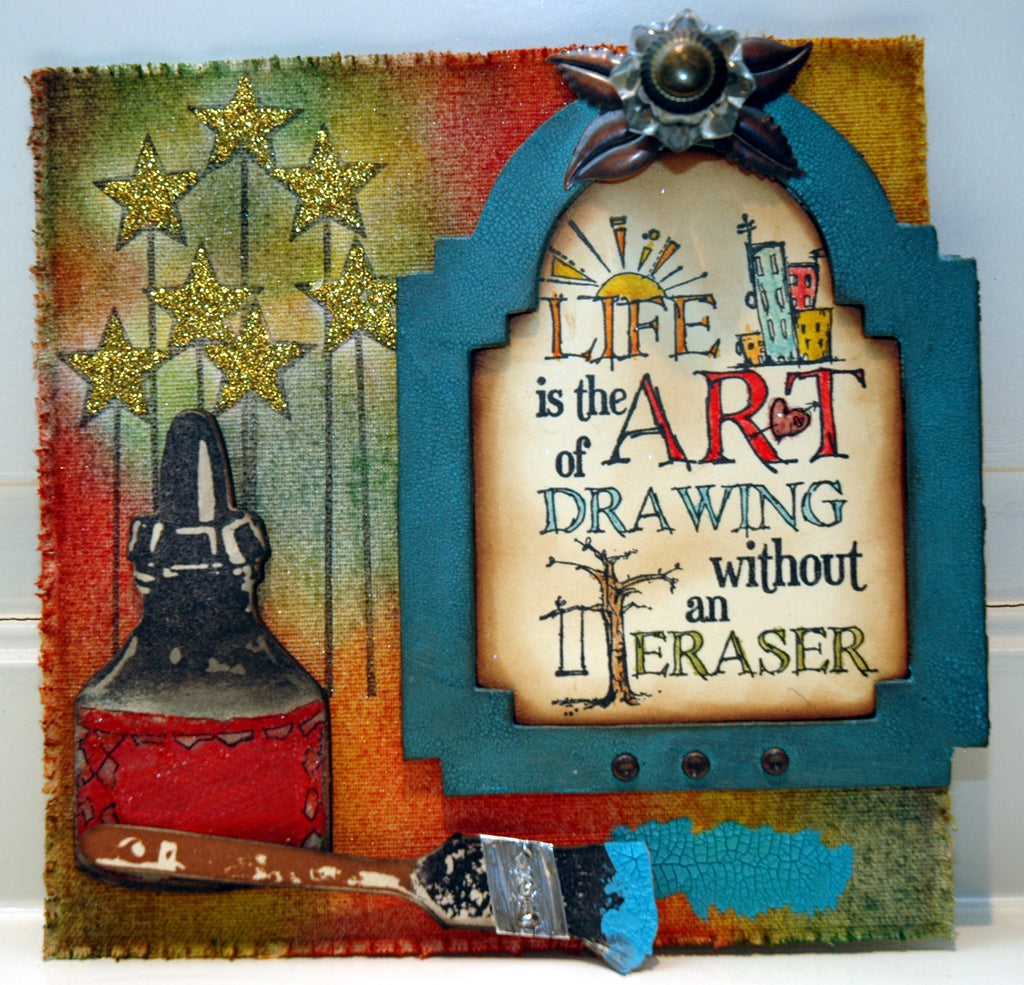 "Sticky-Back Canvas ""Life is Art"" Wall Hanging"
