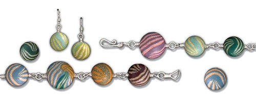 Striped Distress Embossing Powder™ Jewelry By Debbie Tlach