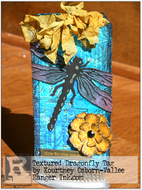 Textured Dragonfly Tag by Kourtney  Osborn-Vallee