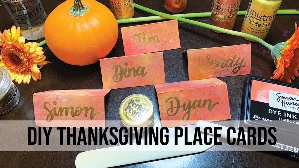 DIY Thanksgiving Place Cards by Julie Faherty