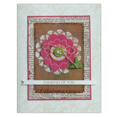 """Thinking of You"" Distress Ink Card By Jennifer McGuire"