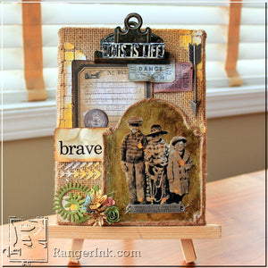 This is Life Burlap Panel by Nicole Wright