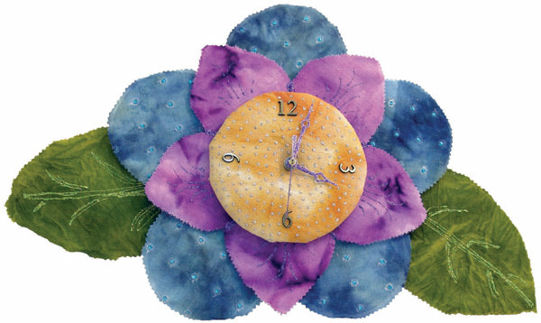 Tie-Dyed Flower Clock By Roni Johnson