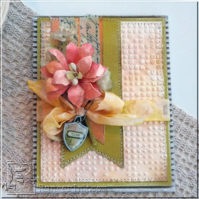 True Heart Tattered Floral Card by Audrey Pettit