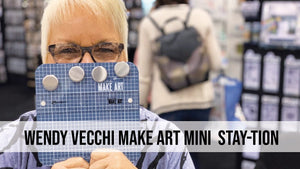 Wendy Vecchi MAKE ART Mini STAY-tion: A Crafting Must-Have!