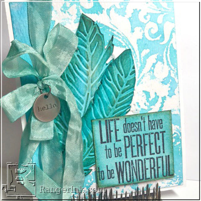 Watercolor Embossing Resist by Yvonne Blair