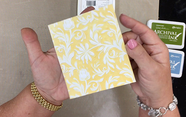 Wendy Vecchi Archival Inks Embossing Folder Technique