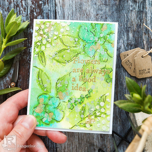 Watercoloured Flowers Card by Debby Hughes