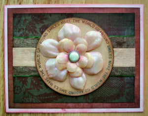"""World of Smiles"" Card with Perfect Pearls™ and Beeswax By Lisa Dixon"