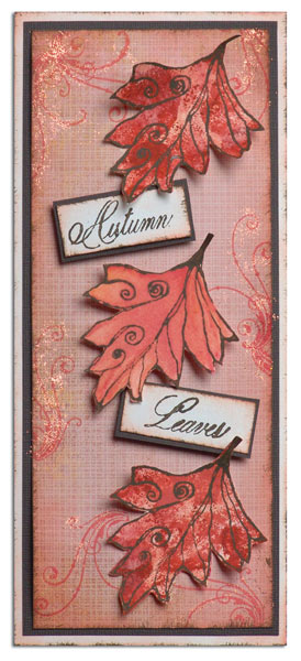 Autumn Leaves Adirondack® Coordinating Colors Card By Patti Behan