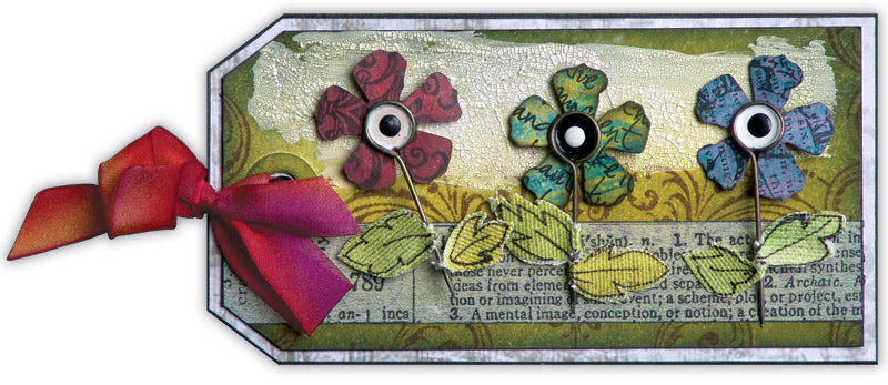 Accentuated Flowers Tag By Linda Cain