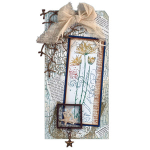 "Memory Capsule and Frame ""By The Sea"" Tag By Roni Johnson"