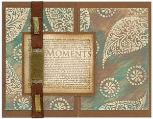 Embossing Powder Resist Backgrounds By Cindy Rescorl