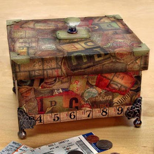 Father's Day Collage Keepsake Box By Bonnie Egenton, Patti Behan and Debbie Tlach