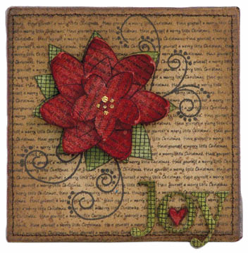 """Joy"" Mini Canvas By Wendy Vecchi"