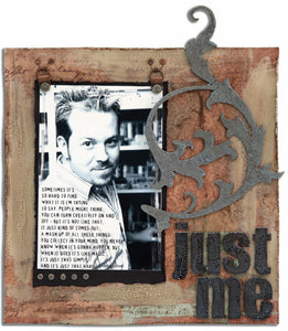 "Distress™ ""Just Me"" Page By Tim Holtz"