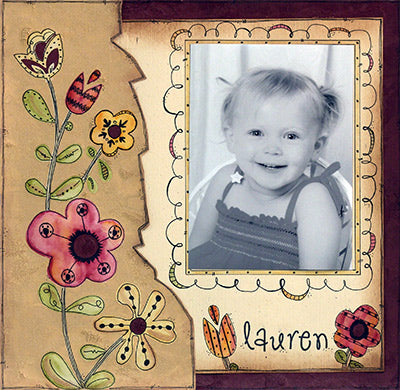 Lauren Scrapbook Page By Andra Wheeler