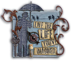 "Distress Stickles ""Live the Life"" Canvas By Tim Holtz"