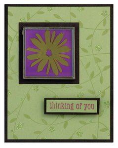 Thinking of You Adirondack® Pigment Ink Card By Michelle Renee Bernard and Patti Behan