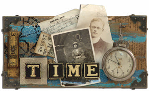 "Distress™ ""TIME"" Canvas By Tim Holtz"