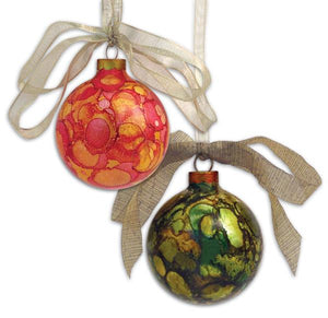 Adirondack® Alcohol Ink Holiday Ornaments By Debbie Tlach