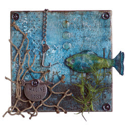Distress™ Caught Fish Canvas By Wendy Vecchi