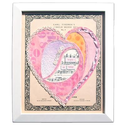 Adirondack Color Wash Heart Wall Hanging By Lisa Dixon