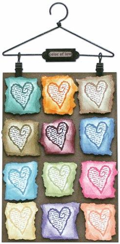 """Color of Love Hanger"" By Tim Holtz"