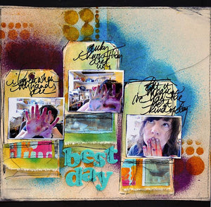 """Best Day"" Color Wash Scrapbook Page By Dina Wakley"