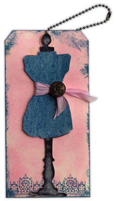Distress Stain Tag Make-It-Take-It, CHA Winter 2011 By Debbie Tlach