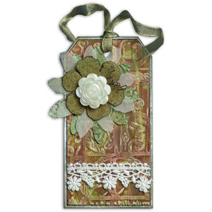 Embossed Flower Tag By Linda Cain